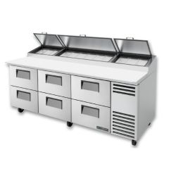 Table de préparation pizza, 6 tiroirs, Engelen-Heere