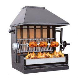 Rôtissoires et barbecues à feu de bois