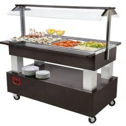 Buffet - Salad bar réfrigéré, 4x GN 1/1-150 (bois Wengé)