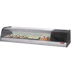 Vitrine réfrigérée pour sushis, double fond perforé (inclus)