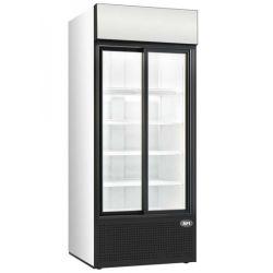 Elément cuve et vitrine sur 2 niveaux fermée, réfrigérées, ventilées, 3x GN 1/1
