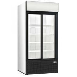 Refroidisseur de bouteilles et de cannettes, 2 portes vitrées coulissantes, afi