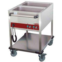 Chariot thermique 2 GN 1/1 - h 150 mm, 2 températures