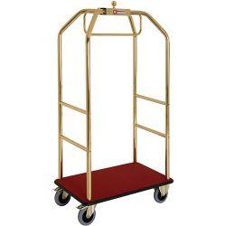 """Chariot pour valises & vestiaire """"doré,"""" 2 roues à freins"""