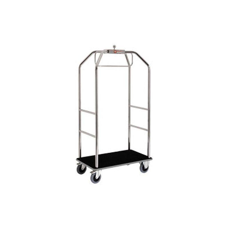 """Chariot pour valises & vestiaire """"chromé"""", 2 roues à freins"""
