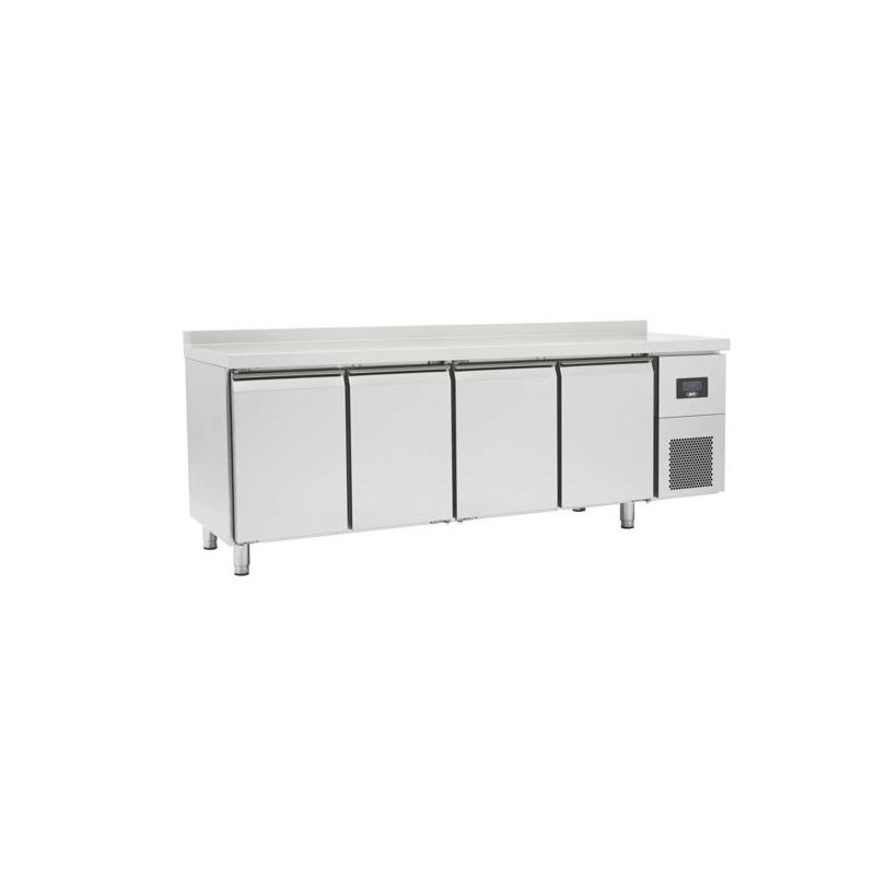 Table réfrigérée négative avec dosseret 4 portes pleines, afi