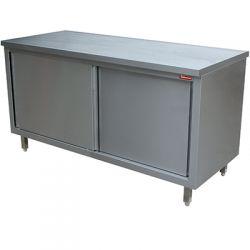 Table armoire neutre, portes coulissantes