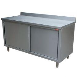 Table armoire neutre, portes coulissantes, murale