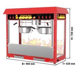 Machine à pop-corn - 5 kg / h - avec 2 Chaudière