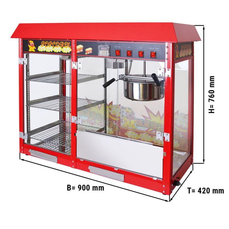Machine à pop-corn - 5 kg / h - avec 3 clayettes chauffantes