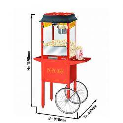 Machine à pop-corn - 30-40 litres - avec chariot