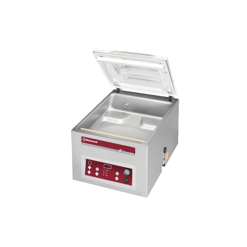 Machine sous-vide, cuve inox 420x460xh180 mm. -21 m3/h écran LCD (TA-90B/IVP)