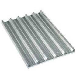 Plaque en aluminium 600x400h38 mm, perforée-ondulée