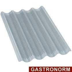 Plaque en aluminium GN1/1, perforée-ondulée pour baguettes