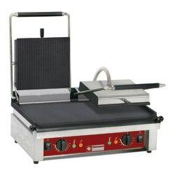 Contact-grill DOUBLE, plaques émaillées