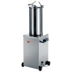 Poussoir hydraulique vertical en inox, 15 litres