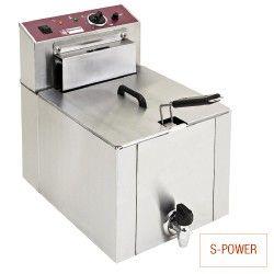 """Friteuse de table électrique """"S-POWER"""" 12 litres + robinet"""