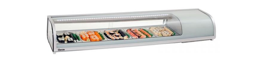 Vitrines à tapas et sushi