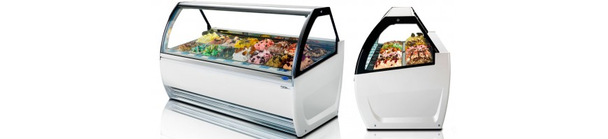 Comptoirs vitrines pour ice-cream