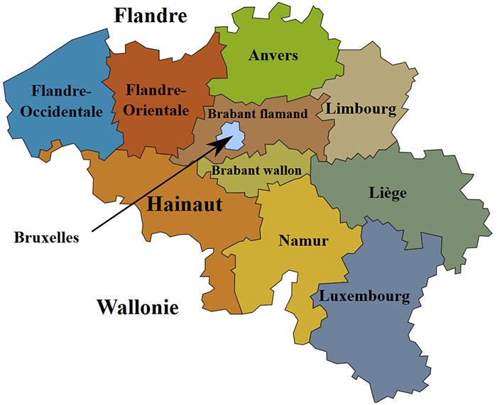Provinces de la Belgique
